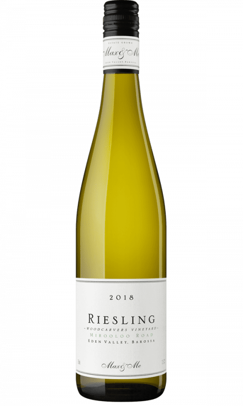 a photograph of a bottle of 2018 Max & Me Riesling